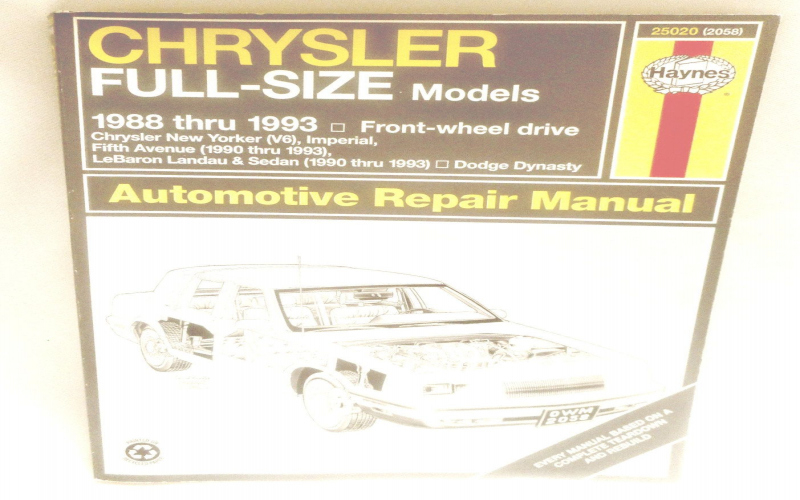 1990 Dodge Dynasty Owners Manual