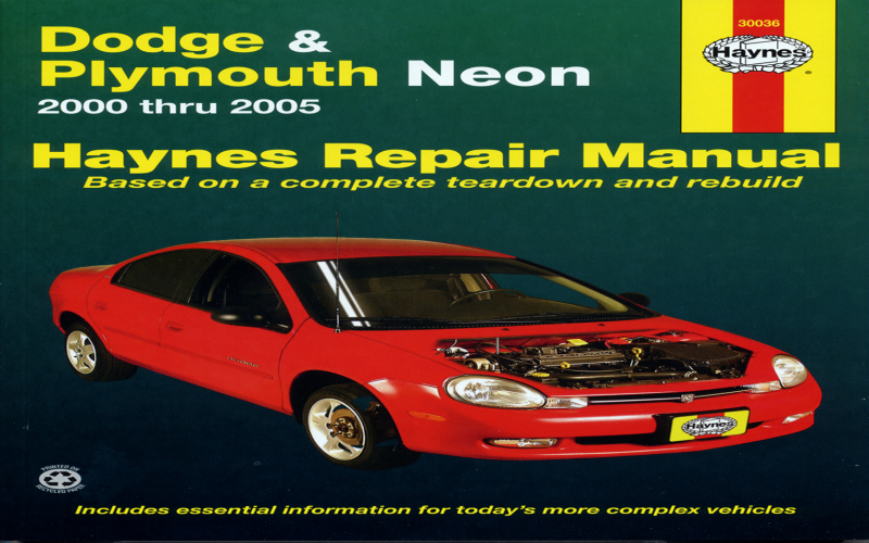 1996 Dodge Neon Owners Manual PDF