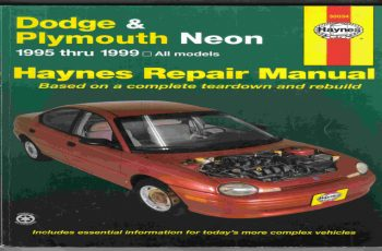 1999 Dodge Neon Owners Manual