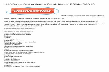 2001 Dodge Dakota Owners Manual PDF