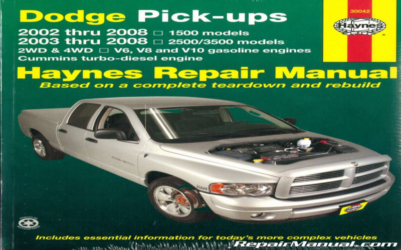 2001 Dodge RAM 1500 5.9 Owners Manual