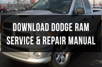 2001 Dodge RAM Service Manual Free Download