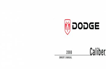 2008 Dodge Caliber Owners Manual Online