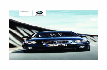 2010 BMW 4 Series Owners Manual