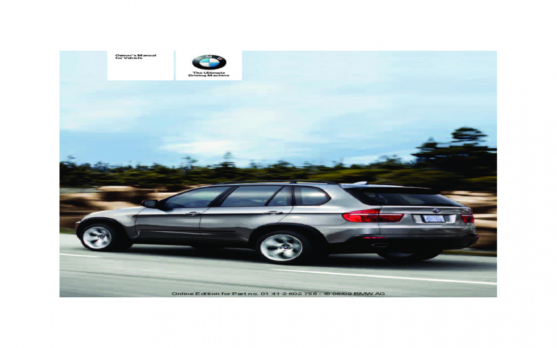 2010 BMW X5 Owners Manual