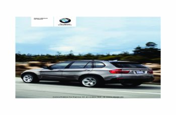 2010 BMW X6 Owners Manual