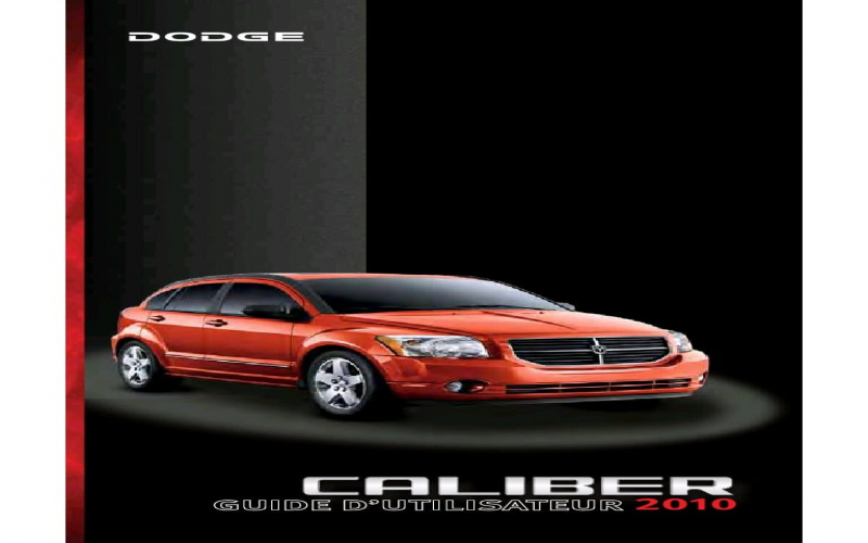 2010 Dodge Caliber Owners Manual .PDF
