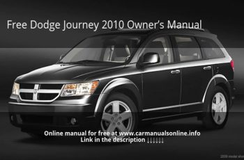 2010 Dodge Journey R/T Owners Manual