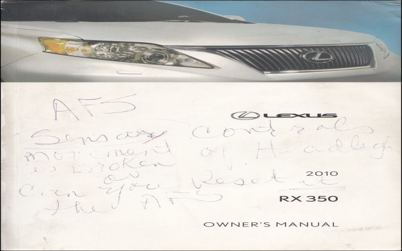2010 Lexus IS 350 Owners Manual