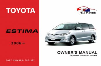 2010 Toyota Estima Owners Manual