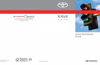 2010 Toyota RAV4 Owners Manual