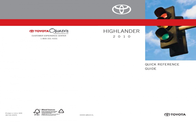 2010 Toyota Scion Owners Manual