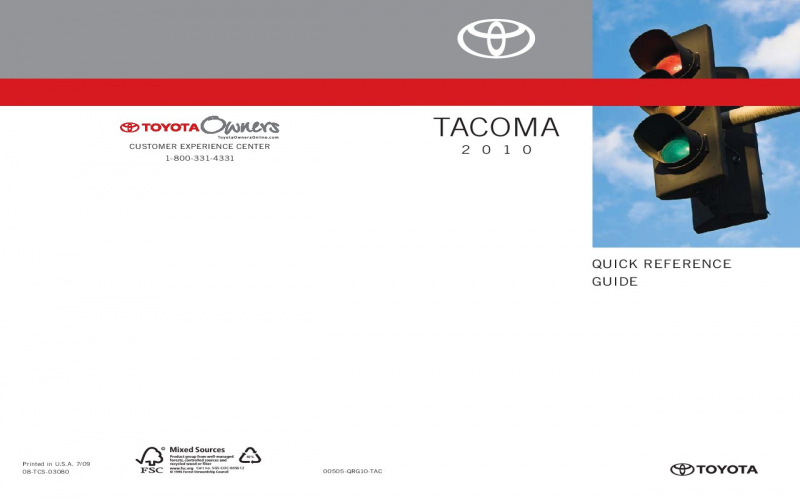 2010 Toyota Tacoma Owners Manual