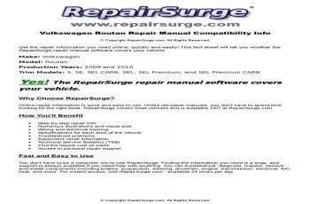 2010 VW Routan Owners Manual