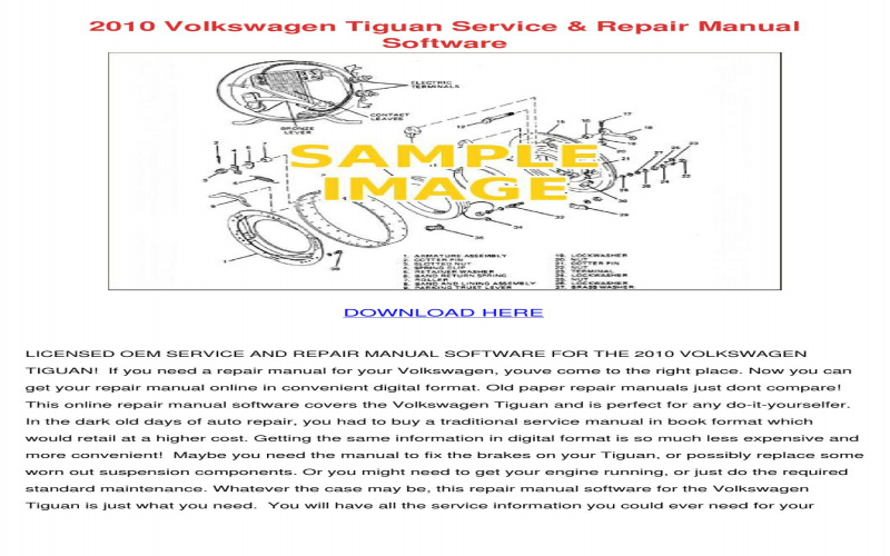 2010 VW Tiguan Owners Manual