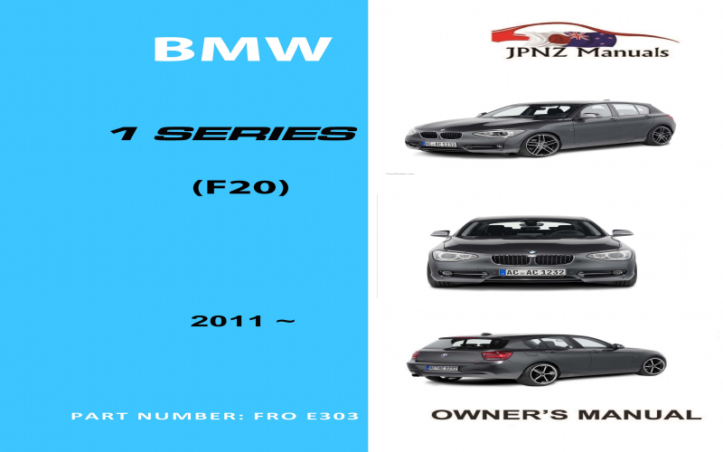 2011 BMW 1 Series Owners Manual