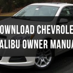 2011 Chevrolet Malibu Owners Manual