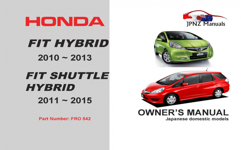 2011 Honda FIT Owners Manual