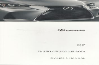 2011 Lexus IS 200T Owners Manual