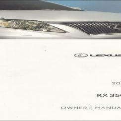 2011 Lexus RC 350 Owners Manual