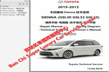 2011 Toyota Sienna Owners Manual