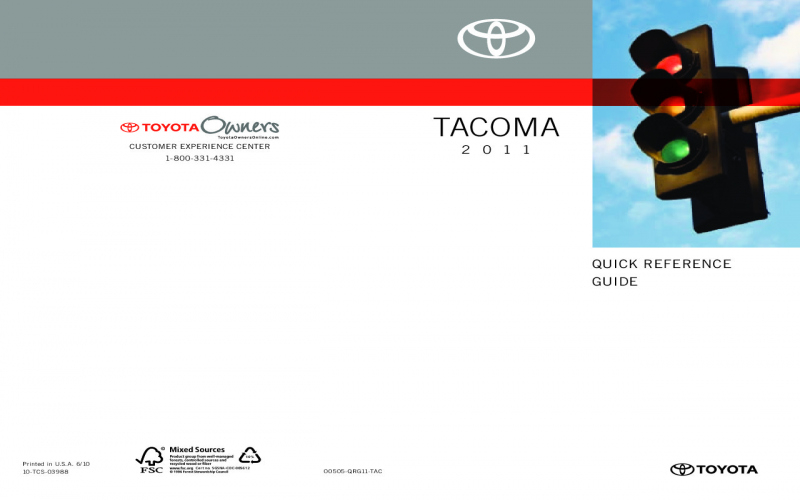 2011 Toyota Tacoma Owners Manual