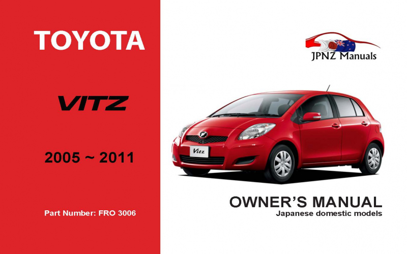 2011 Toyota Vitz Owners Manual