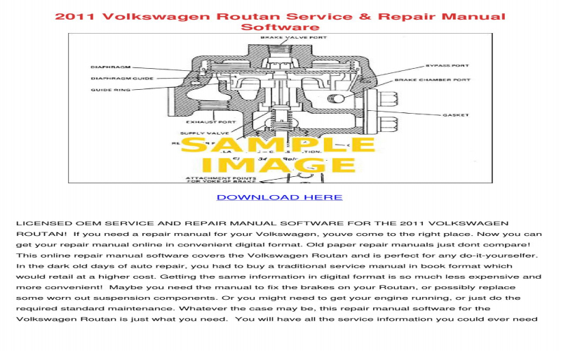 2011 VW Routan Owners Manual