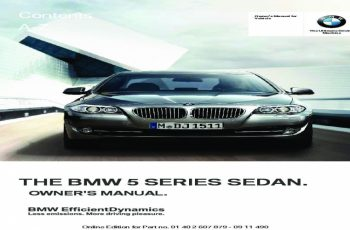 2012 BMW 2 Series Owners Manual