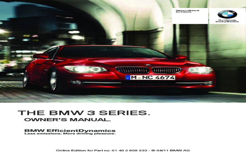 2012 BMW M3 Owners Manual