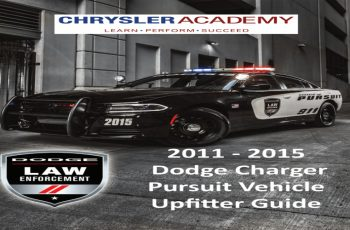 2012 Dodge Charger Police Owners Manual