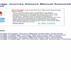 2012 Dodge Journey Owners Manual PDF
