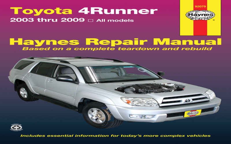 2012 Toyota 4runner Owners Manual