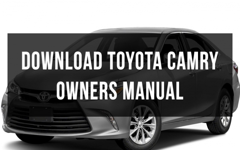 2012 Toyota Camry Owners Manual
