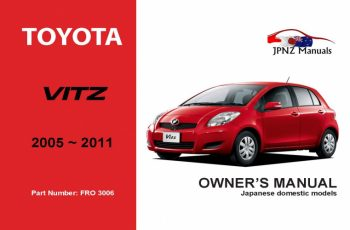 2012 Toyota Vitz Owners Manual