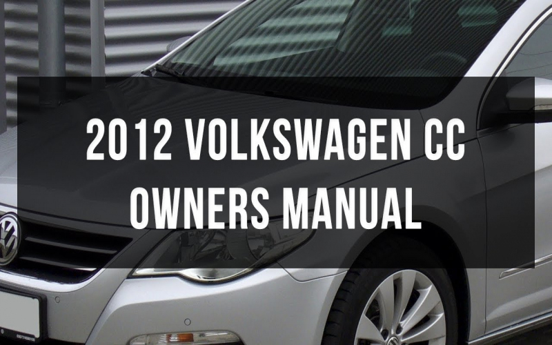 2012 VW CC Owners Manual