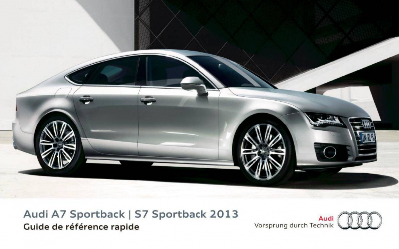 2013 Audi RS7 Owners Manual