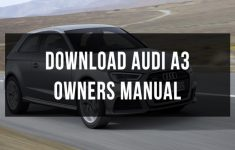 2013 Audi S3 Owners Manual