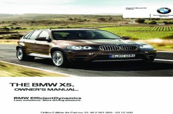 2013 BMW X5 Owners Manual