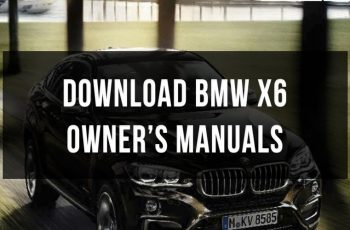 2013 BMW X6 Owners Manual