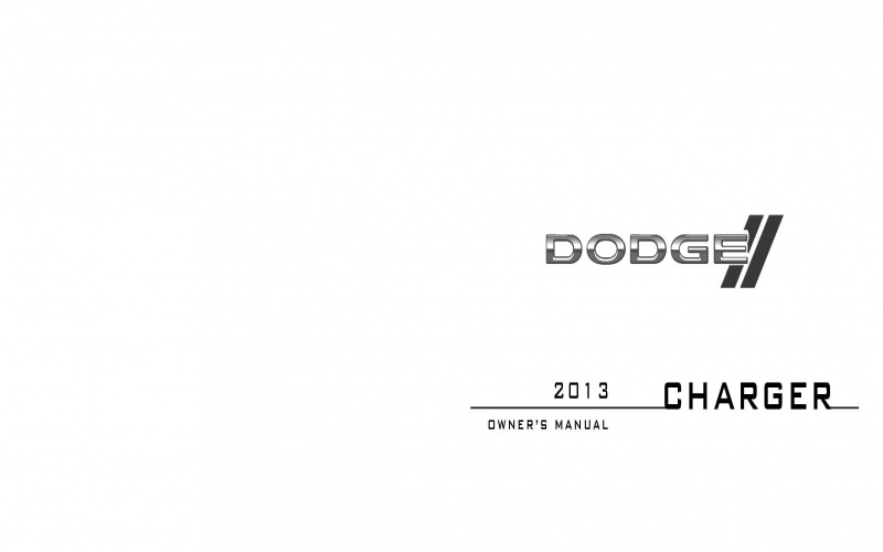 2013 Dodge Charger Owners Manual PDF