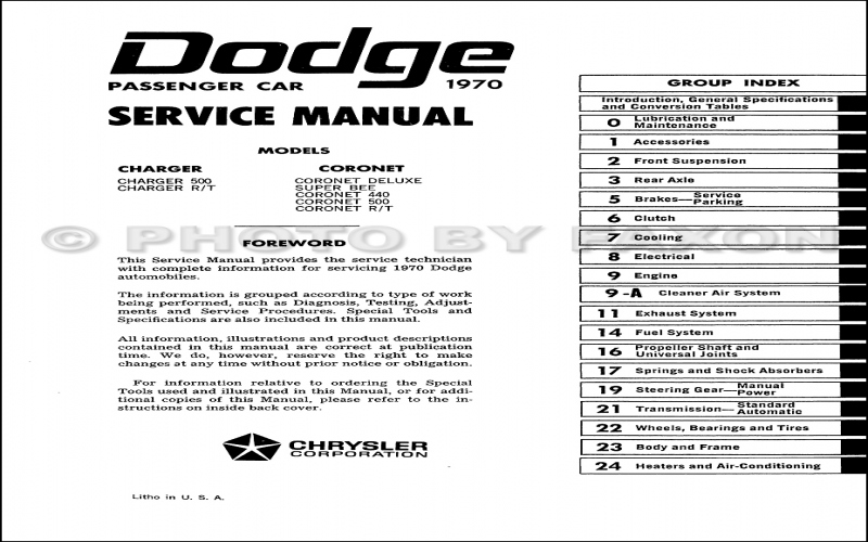 2013 Dodge Charger Service Manual PDF