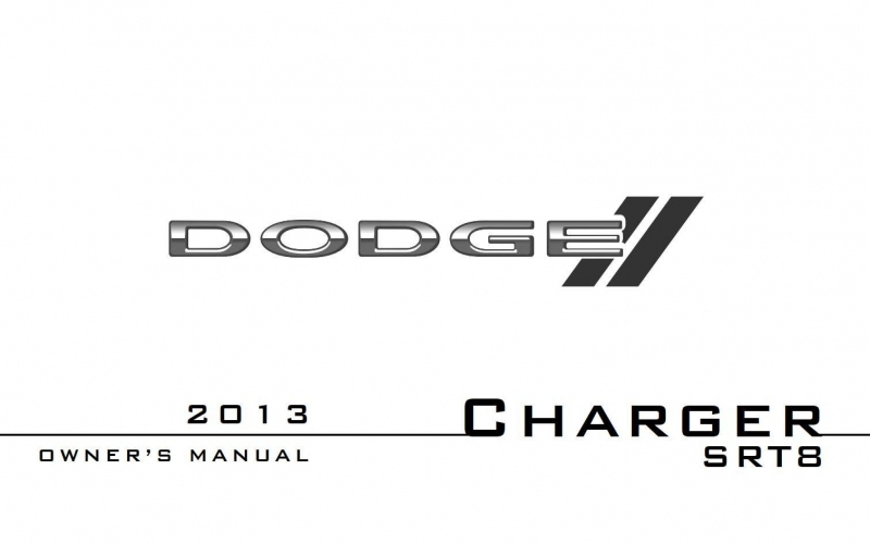 2013 Dodge Charger Srt8 Owners Manual