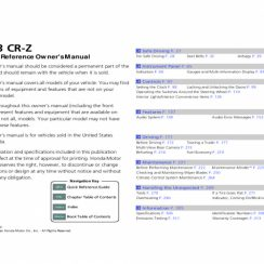 2013 Honda CRZ Owners Manual