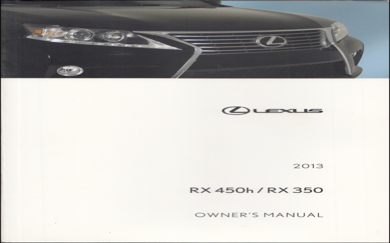 2013 Lexus IS 350 Owners Manual