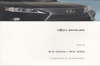 2013 Lexus RX 350 Owners Manual