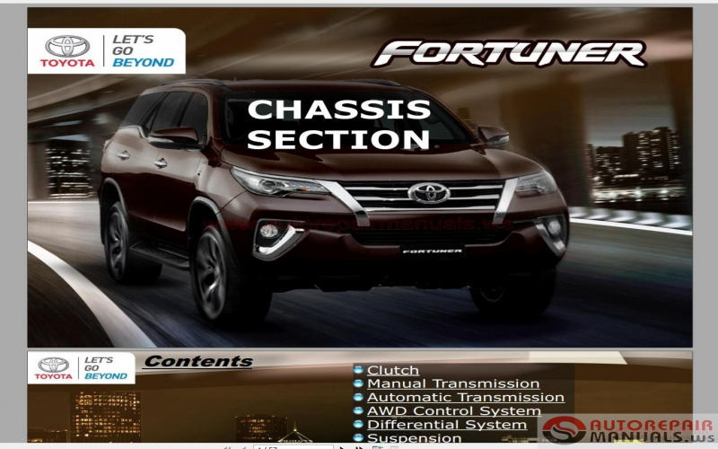 2013 Toyota Fortuner Owners Manual