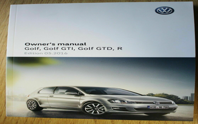 2013 VW Golf Owners Manual