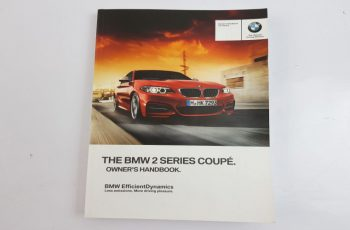 2014 BMW 2 Series Owners Manual