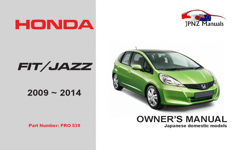 2014 Honda FIT Owners Manual